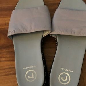 Rockport light blue leather sandals size 9